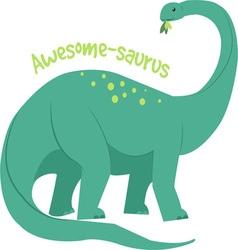 Awesome-saurus vector