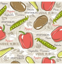 Background with potato pepper carrot vector