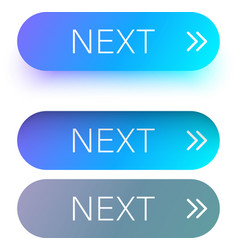 blue next web buttons with arrow isolated on white vector image