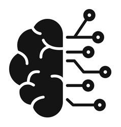 Brain ai smart icon simple style vector
