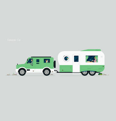 caravan car vector image