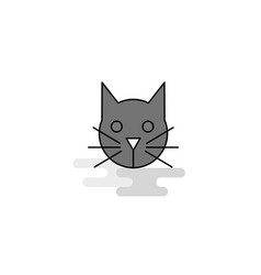 cat web icon flat line filled gray icon vector image
