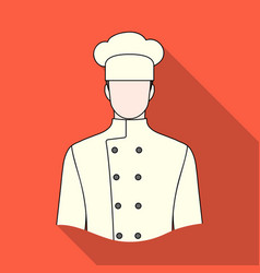 chefprofessions single icon in flat style vector image