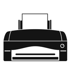 Color home printer icon simple style vector