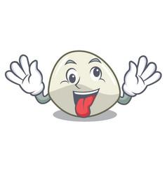 Crazy mozzarella cheese isolated on mascot cartoon vector