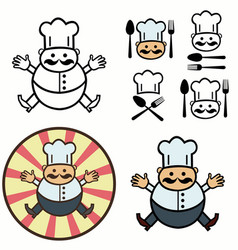 decorative image of a cook vector image