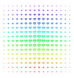diamond icon halftone spectrum pattern vector image