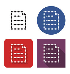 dotted icon document in four variants with vector image