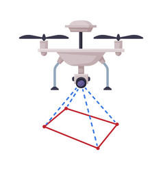 Drone guadrocopter geodetic survey engineering vector