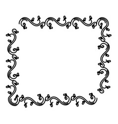 Elegant victorian style frame vector