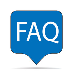 faq icon on white background sign flat vector image