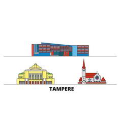 Finland tampere flat landmarks vector