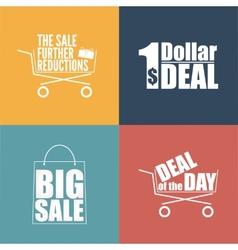Flat design sale discount background vector