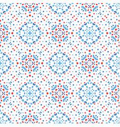 flower pattern blue background boho vector image vector image
