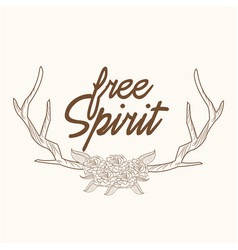 Free spirit horns ornament image vector