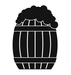 full barrel icon simple style vector image