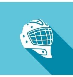 Goaltender helmet hockey icon vector image