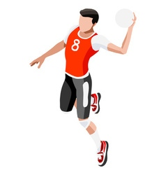 Handball 2016 Sports 3D Isometric vector image