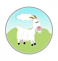 Happy goat vector