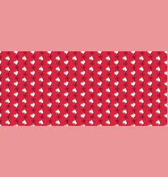 Heart seamless pattern red and white color vector