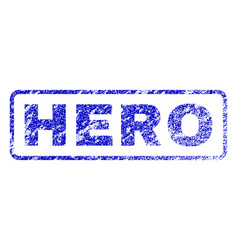 Hero rubber stamp vector
