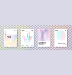 holographic cover set abstract backgrounds vector image
