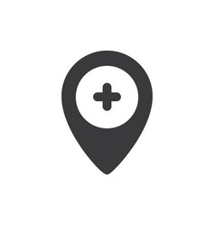hospital location icon vector image