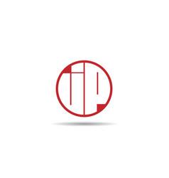 Initial letter jp logo template design vector
