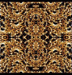 intricate floral paisley seamless pattern vector image