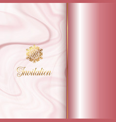 invitation design with a pink marble texture vector image