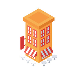 Isometric building object or icon - element for vector