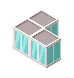 isometric city building isometry vector image