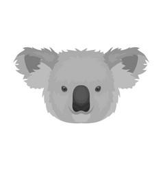koala icon in monochrome style isolated on white vector image