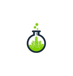 lab town logo icon design vector image