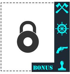 lock icon flat vector image