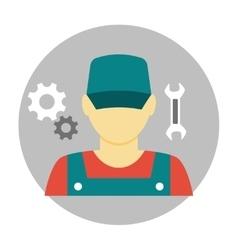 Mechanic avatar icon flat vector
