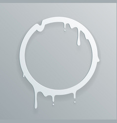 Melting paper frame 3d flowing art flux circle vector