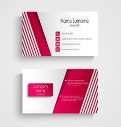 Modern light pink white business card template vector