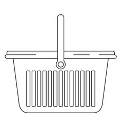monochrome silhouette of laundry basket with one vector image