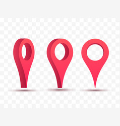pointers set of 3d map pins vector image
