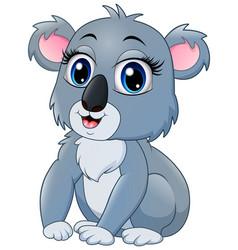 Pretty funny koala cartoon vector