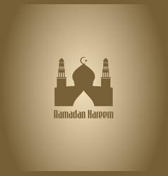 Ramadan greetings background kareem means vector
