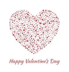 Red Heart for Valentines Day card Background vector