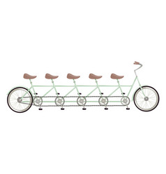 Retro tandem bicycle the concept a combined vector