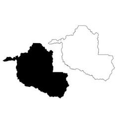 Rondonia map vector