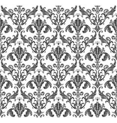 Seamless wallpaper background floral vintage vector