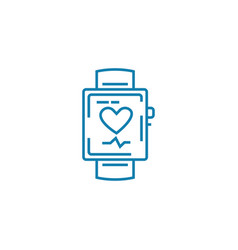 smart watch linear icon concept smart watch line vector image