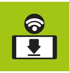 Smartphone wifi internet download icon vector
