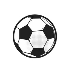 soccer ball icon flat in black on white background vector image