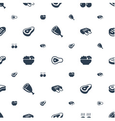 Steak icons pattern seamless white background vector